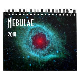 Calendário NASA 2018 do universo da astronomia de espaço das