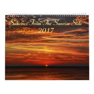 Calendário Nascer do sol do lado 2017 do nascer do sol