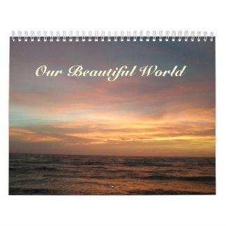 Calendário - nosso mundo bonito
