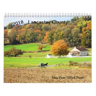Calendário O Condado de Lancaster