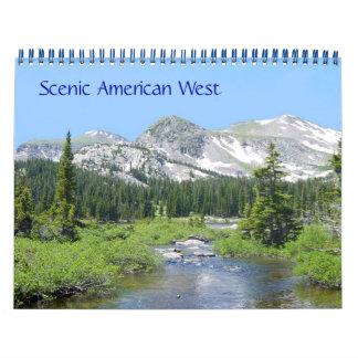 Calendário Oeste americano cénico