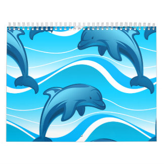 Calendário Ondas de salto do golfinho