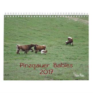 Calendário Os bebês 2017 de Pinzgauer Calendário-personalizam