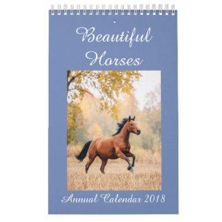 Calendário Os cavalos Calendar 2018