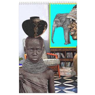 Calendário Os estilos de África