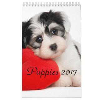 Calendário Os filhotes de cachorro Calendar 2017