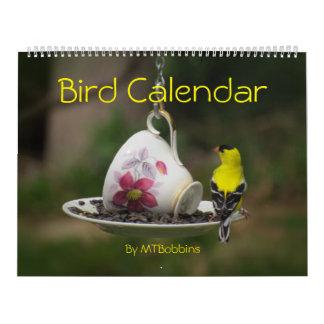 Calendário Os pássaros Calendar com grandes números