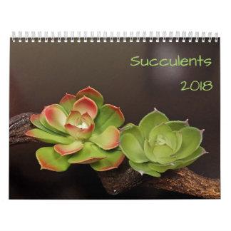 Calendário Os Succulents Calendar 2018