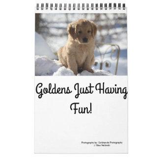 Calendário Ouros apenas que têm o divertimento