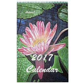 Calendário Página cor-de-rosa do solteiro da arte de