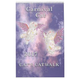 Calendário Página do gato 2017 do carnaval única