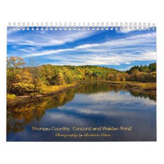 Calendário País 2018 de Thoreau: Lagoa-Concórdia de Walden