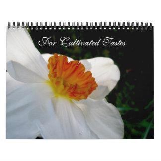Calendário para gostos florais cultivados