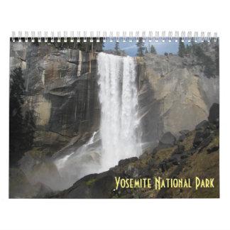 Calendário Parque nacional 2018 de Yosemite