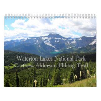 Calendário Parque nacional dos lagos Waterton