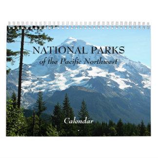 Calendário Parques nacionais da foto noroeste pacífica