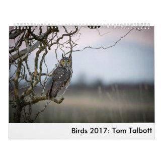 Calendário Pássaros 2017: Tom Talbott
