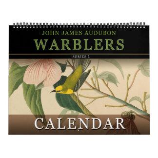 Calendário Pássaros das toutinegras de John Audubon do