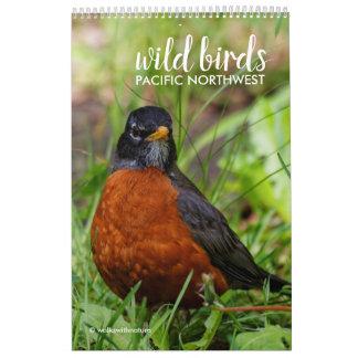Calendário Pássaros selvagens do noroeste pacífico