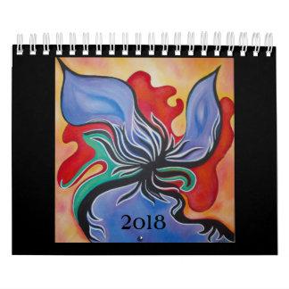 Calendário pequeno da arte abstracta 2018