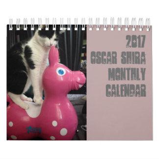calendário pequeno de 2017 Oscar Shira