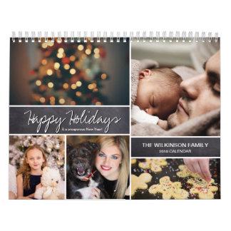 Calendário Personalizado boas festas, ano novo, foto