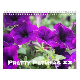 Calendário - petúnias bonito #2