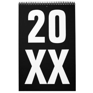 Calendário Pimentas 2018 modernas de Leslie do ~ do design