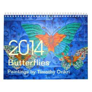 Calendário Pinturas 2014 de Butterflies~ por Timothy Orikri