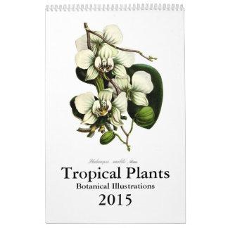 Calendário Plantas tropicais 2015