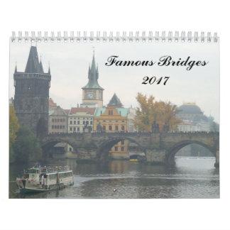 Calendário Pontes famosas 2017
