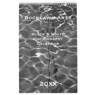 Calendário preto & branco feito sob encomenda da