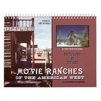 Calendário Ranchos do filme do oeste americano