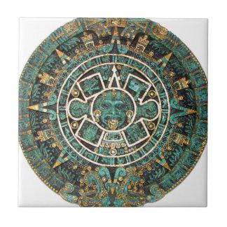 Calendário redondo antigo maia asteca do disco