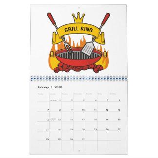 Calendário Rei da grade