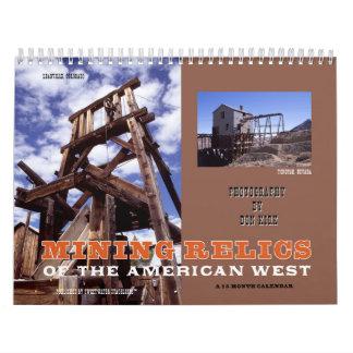 Calendário Relíquias da mineração do oeste americano