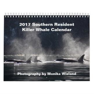 Calendário residente do sul da baleia de assassino