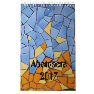 Calendário Retalhos e abstratos 2017