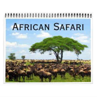 Calendário safari africano 2018