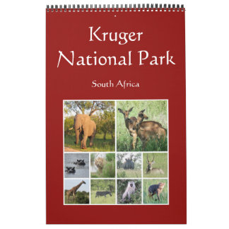 Calendário safari do africano do kruger