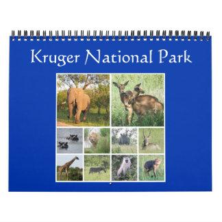 Calendário safari do kruger