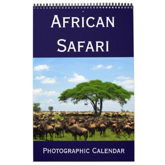 Calendário safari fotográfico africano 2018