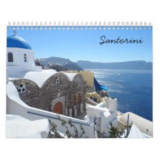 Calendário Santorini 2018