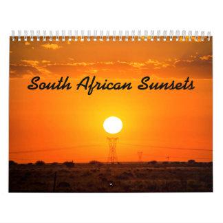 Calendário Sul - pôr do sol africano