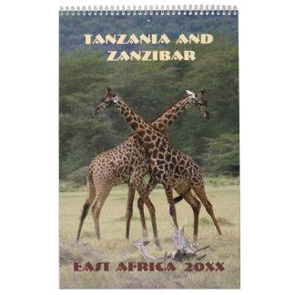 Calendário Tanzânia e Zanzibar