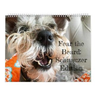 Calendário Tema a barba: Edição do Schnauzer