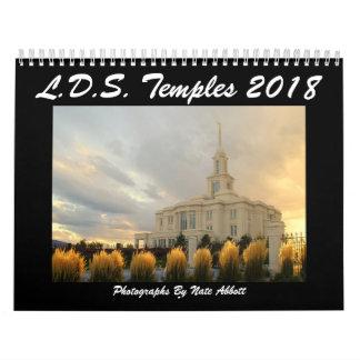 Calendário Templos 2018 de LDS