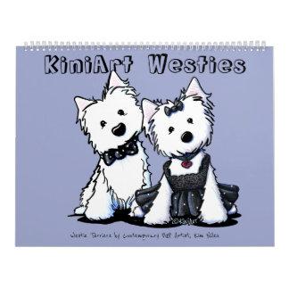 Calendário Terrier de KiniArt Westie