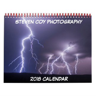 Calendário tímido da fotografia 2018 de Steven