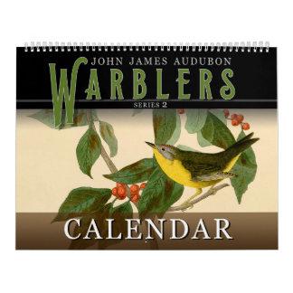 Calendário Toutinegras de John Audubon 2 pássaros do